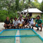 The team on Kudafari with thier new coral nursery